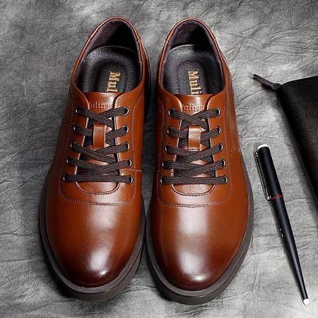 木林森男鞋2015新款正品男士商务正装皮鞋真皮英伦休闲皮鞋
