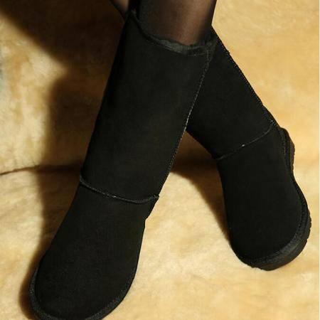 IVG 2016冬季新款保暖雪地靴真皮牛皮防水高筒长靴子