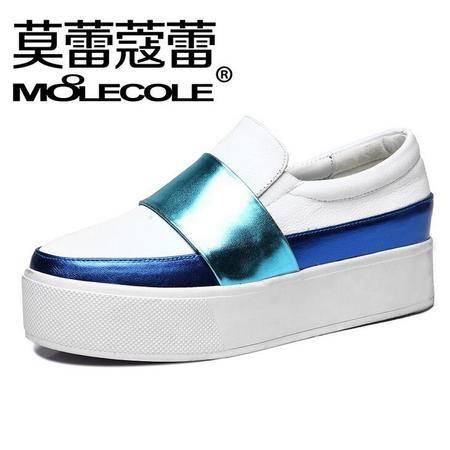 莫蕾蔻蕾2016春季低帮乐福鞋内增高女鞋运动休闲女鞋松糕鞋