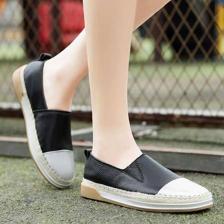 莫蕾蔻蕾2016时尚新款平底单鞋女韩版休闲鞋女鞋