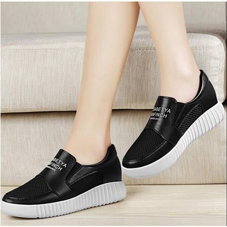 古奇天伦平底女鞋2016春季新款内增高低帮单鞋韩版休闲运动风鞋子
