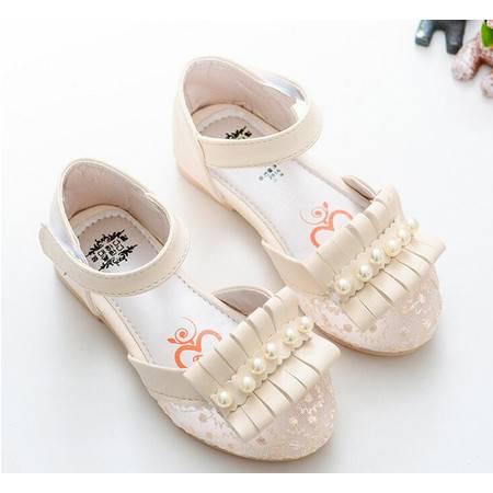2016春夏款韩版女童鞋公主鞋凉鞋儿童皮鞋单鞋排珠透气网鞋宝宝鞋