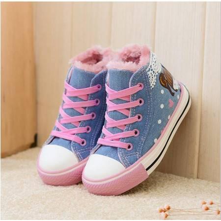 2016一休童鞋子女童棉鞋公主短靴儿童棉鞋女童鞋子女儿童棉鞋