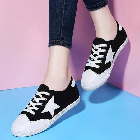 2016夏季新款低帮休闲鞋平底单鞋英伦鞋子星星女鞋学生鞋