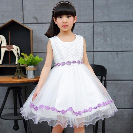 女童连衣裙夏款中大儿童韩版网纱蓬蓬裙公主裙子夏季童装