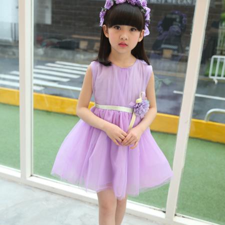 童装2016新款女童夏装品质裙 儿童花朵连衣裙 潮款
