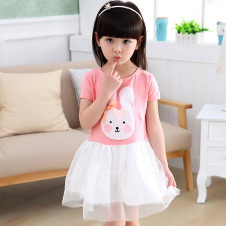 女童连衣裙夏2016新款儿童兔子蕾丝裙子韩版宝宝背心纱裙公主裙