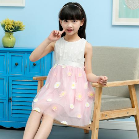 2016女童连衣裙夏 儿童公主裙 女童演出服 夏季童装童裙