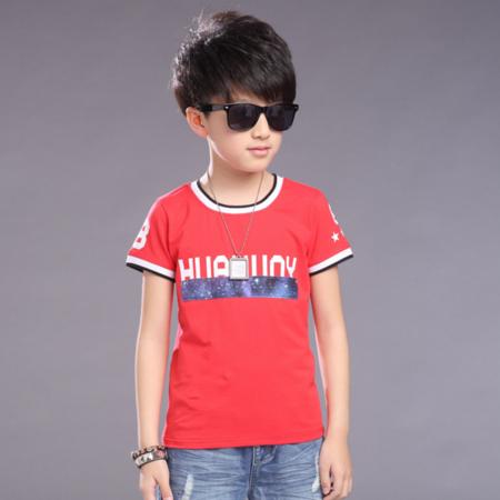 2016夏季新款男童休闲T恤中大童短袖印花宇宙T恤图案