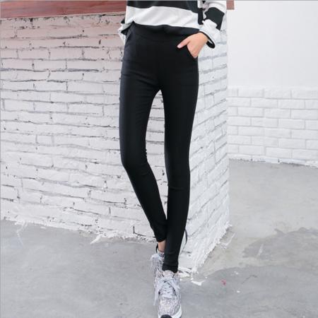 2016外穿打底裤时尚简约修身小脚裤女式高弹力铅笔裤