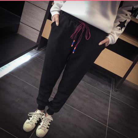 2016女式休闲裤大码哈伦裤女士长裤女运动裤卫裤宽松休闲裤子