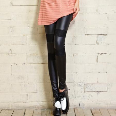 2016亚光仿皮裤子外穿打底裤紧身裤高弹力薄款女式休闲长裤女