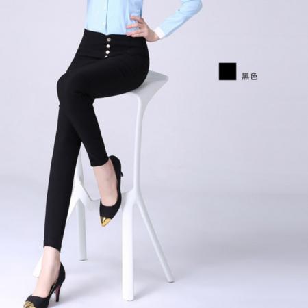 薄款女裤 2016新款欧美风高腰休闲裤大码弹力小脚铅笔打底裤