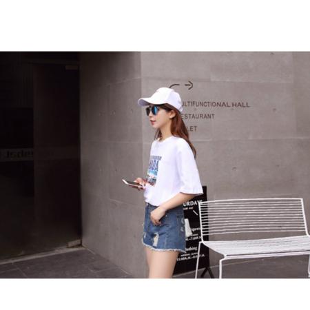2016夏季新款韩版修身显瘦破洞牛仔短裤女学生流苏牛仔裤热裤潮