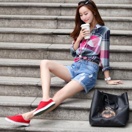 2016夏季新款破洞牛仔裤女装 韩版个性时尚牛仔短裤直筒裤