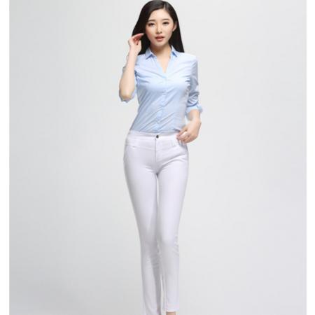 2016新款女式韩版休闲小脚铅笔裤女修身显瘦九分裤女