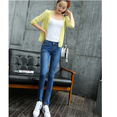 2016新款修身显瘦小脚铅笔裤牛仔长裤批发韩版女式牛仔裤