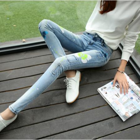 2016春季新款修身显瘦小脚铅笔裤牛仔长裤批发韩版女式牛仔裤