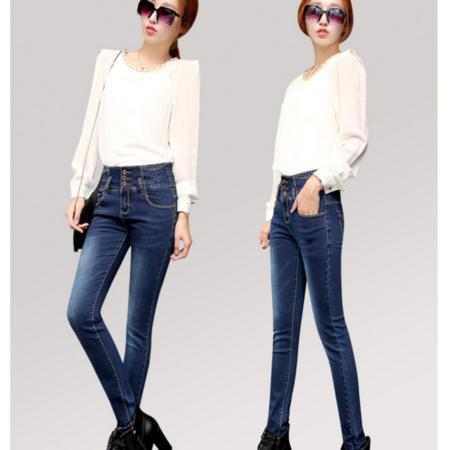 2016春季新款修身显瘦小脚铅笔裤牛仔长裤 韩版女式牛仔裤