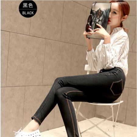 2016新款修身显瘦小脚铅笔裤牛仔长裤韩版女式牛仔裤 女