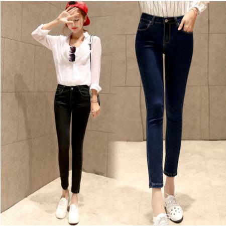 2016新款修身显瘦小脚 铅笔裤牛仔长裤韩版女式牛仔裤
