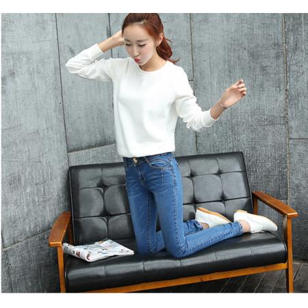 2016新款修身显瘦小脚铅笔裤牛仔长裤韩版女式牛仔裤