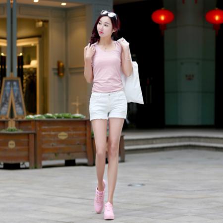 2016夏季新款牛仔短裤女 韩版时尚磨毛破洞牛仔裤女