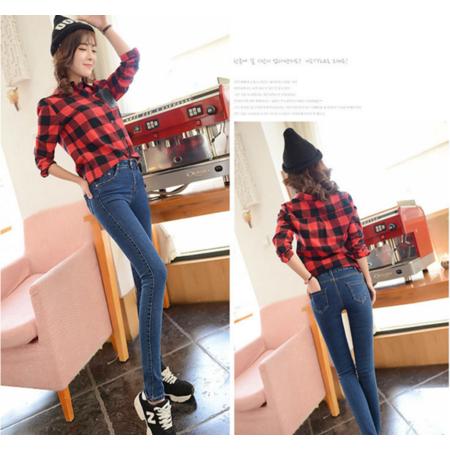 2016新款韩版修身显瘦小脚铅笔裤 弹力牛仔长裤女牛仔裤