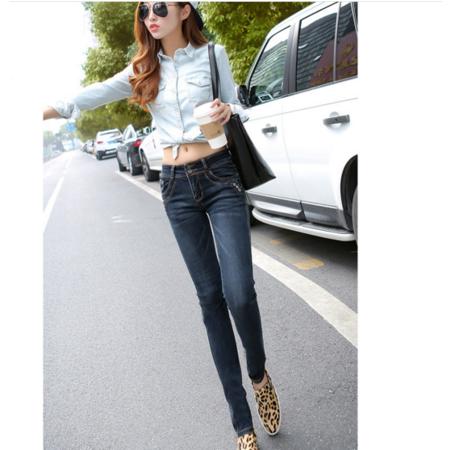 2016夏新款修身显瘦爆款女式牛仔裤 弹力小脚铅笔裤牛仔长裤