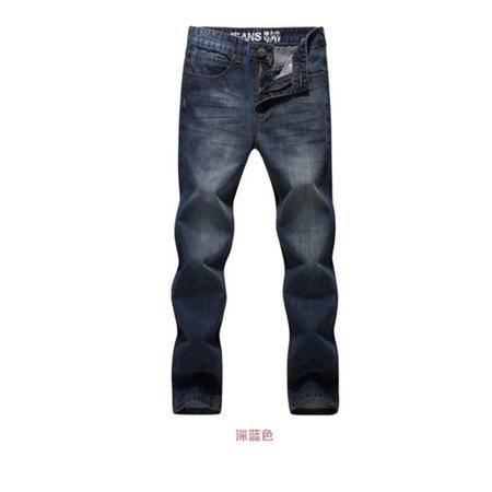 2016男装秋装新款 韩版直筒修身休闲男式牛仔裤长裤