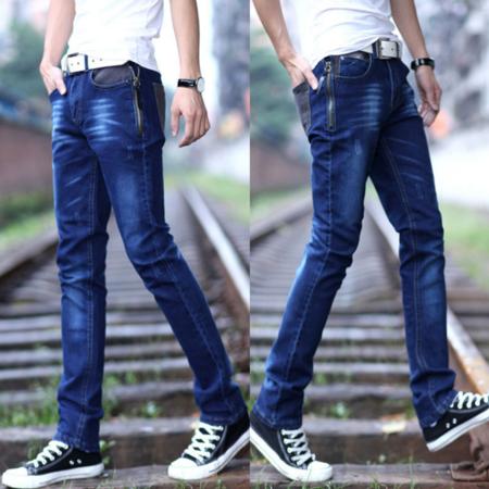 2016韩版修身小直筒男式弹力小脚裤牛仔裤 铅笔潮裤