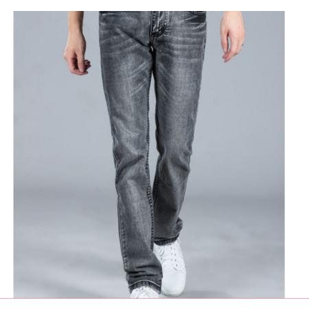 2016新款男装 韩版直筒修身复古男式牛仔裤