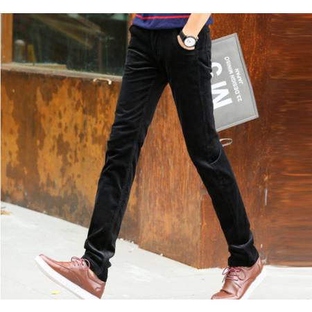 2016秋新款 韩版修身显瘦灯芯绒男式休闲长裤 小直筒