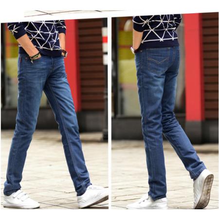 2016秋季时尚男装新款牛仔裤男士韩版直筒牛仔裤子男商务长裤
