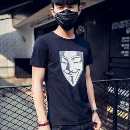 2016新款短袖T恤男夏季 棉质短t正品修身休闲男t恤衫