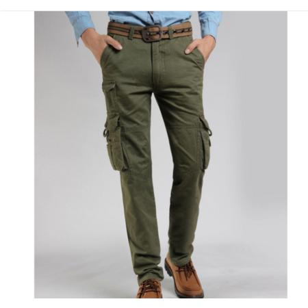2016户外工装秋新款 欧美风合身多袋工装男式休闲裤潮长裤子