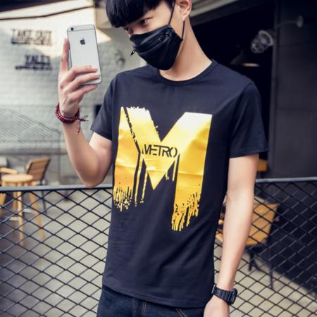 2016新款夏季短袖T恤男夏季 棉质短t正品修身休闲男t恤衫
