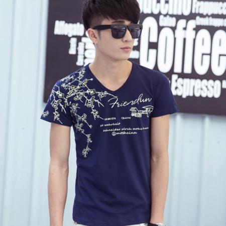 2016夏季男士短袖T恤修身圆领半袖韩版潮流打底衫t恤衫