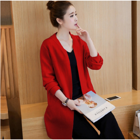 毛衣中长款2016秋装新款女装上衣潮韩版学生秋季针织衫开衫