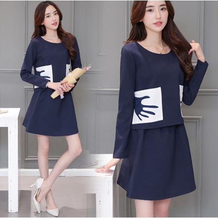 2016韩版女装秋装新款时尚宽松长袖两件休闲套装