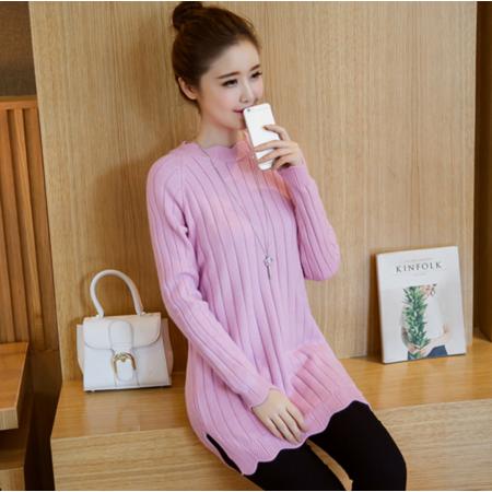 2016秋季新款韩版修身套头打底毛衣长袖针织衫女