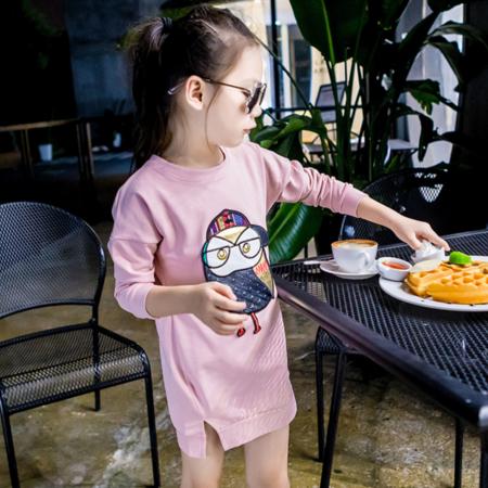 王菲儿 童装 2016秋款童T恤 女童韩版中大童中长款打底衫