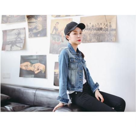2016秋装新款韩版牛仔外套女复古长袖修身短外套显瘦上衣