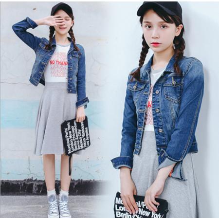 2016秋装新款韩版牛仔外套女修身长袖短款夹克上衣潮