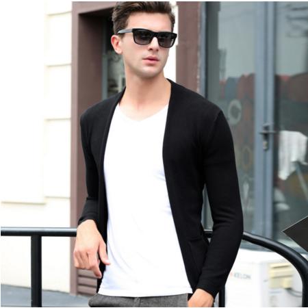 2016秋季新款男士针织衫开衫男式外套开衫长袖休闲男装