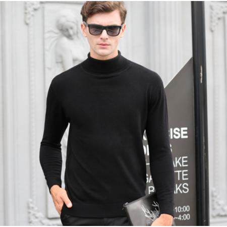 2016秋季新款男式针织衫百分百羊毛衫男士毛衣长袖套头中老人男装