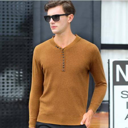 2016秋冬新款男士羊毛衫长袖 男式针织衫毛衣 男100%纯羊毛男装V领