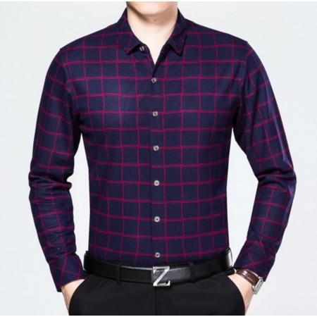 2016秋季新品商务男士衬衫 男式衬衣长袖男装羊毛衬衫