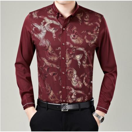 2016秋季新款男士衬衣长袖 男式衬衫开衫 修身休闲男装