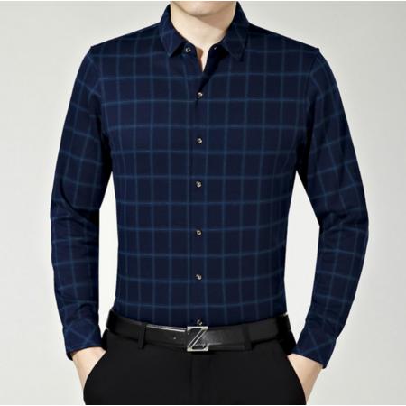2016秋季新款男士衬衣长袖 男式衬衫修身商务休闲男装